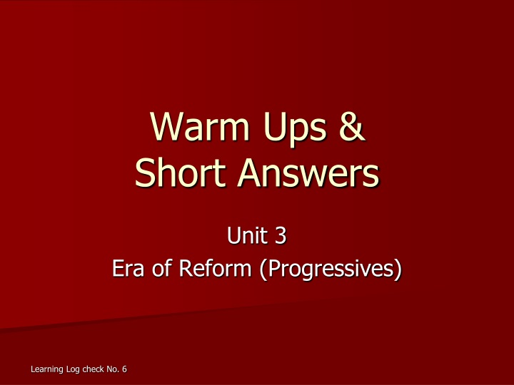 warm ups short answers n.