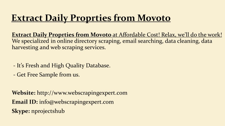 extract daily proprties from movoto n.