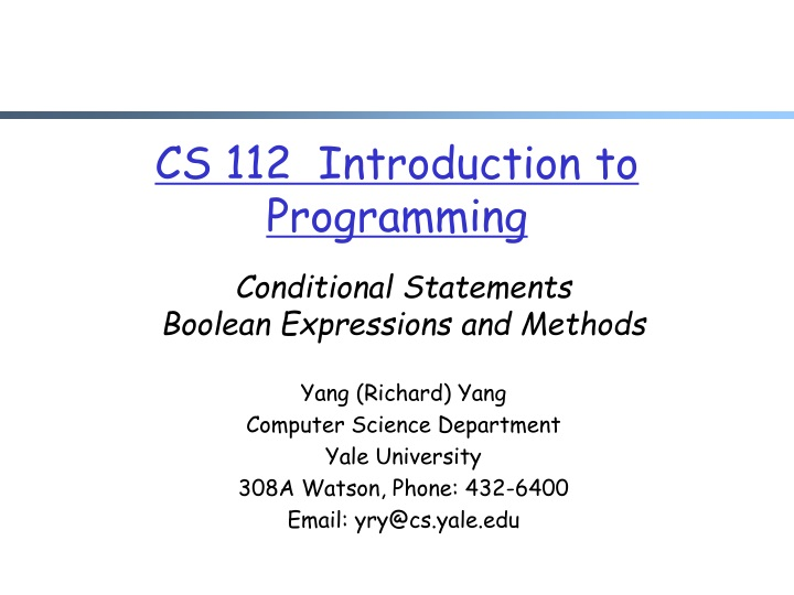 cs 112 introduction to programming n.