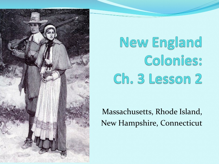 new england colonies ch 3 lesson 2 n.