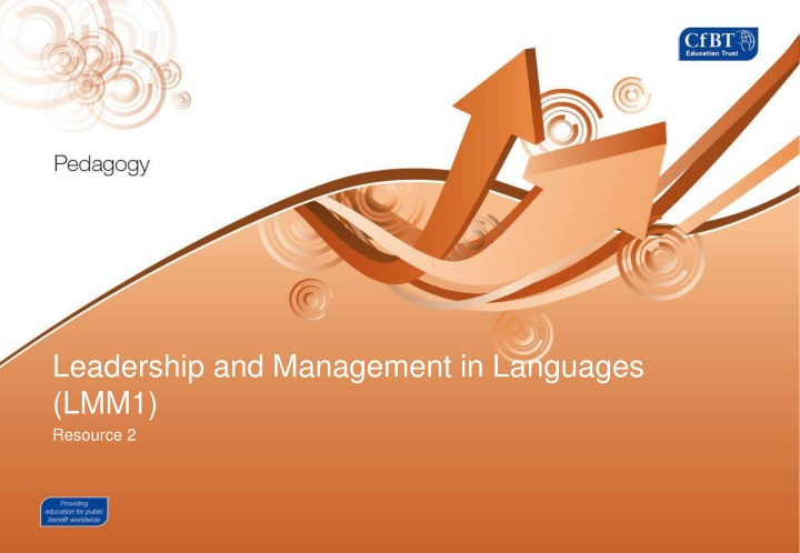 leadership and management in languages lmm1 n.