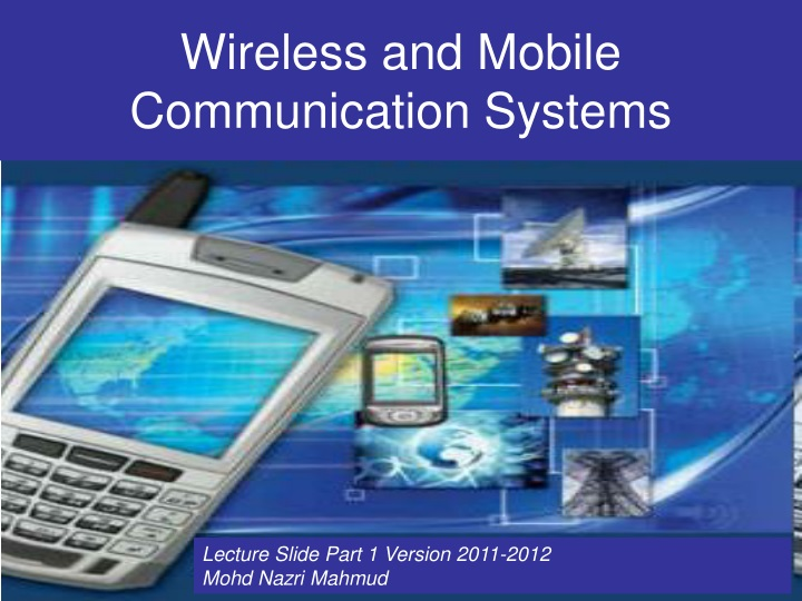 wireless and mobile communication systems n.