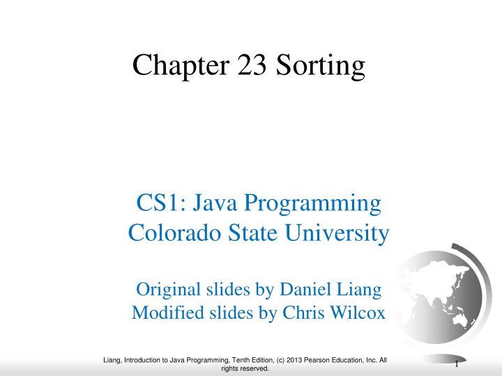 chapter 23 sorting n.