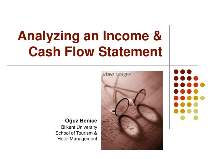 analyzing an income cash flow statement n.