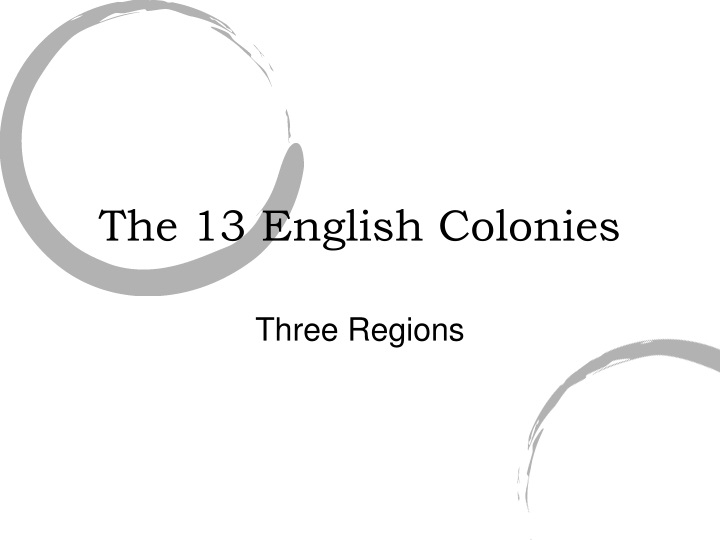 the 13 english colonies n.
