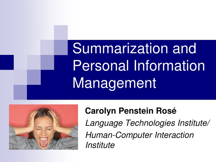 summarization and personal information management n.