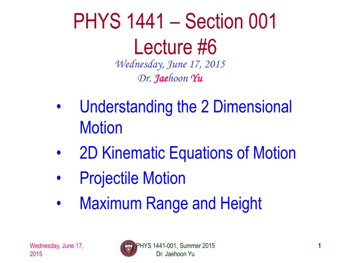 phys 1441 section 001 lecture 6 n.
