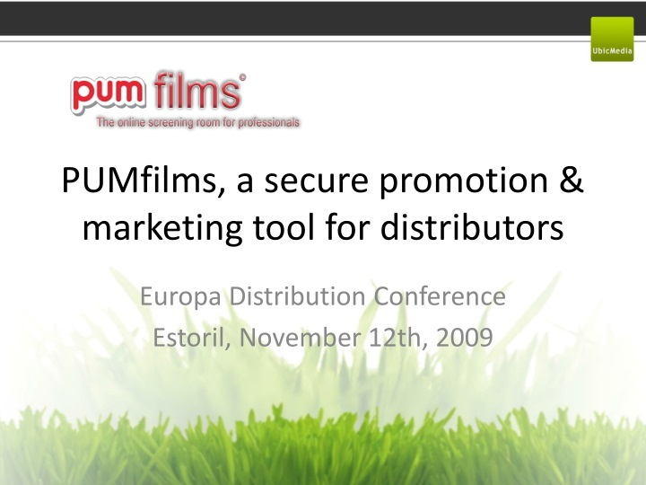 pumfilms a secure promotion marketing tool for distributors n.
