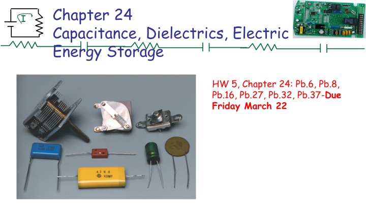 chapter 24 capacitance dielectrics electric energy storage n.