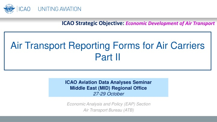 air transport reporting forms for air carriers part ii n.