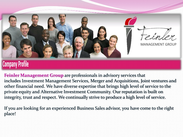 feinler management group are professionals n.