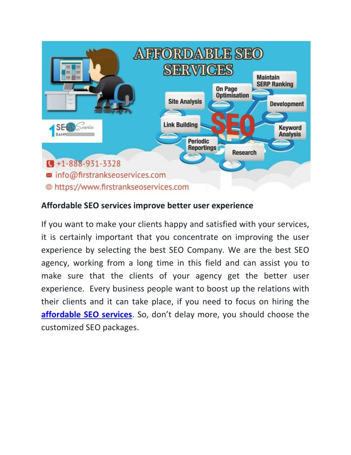 affordable seo services improve better user n.