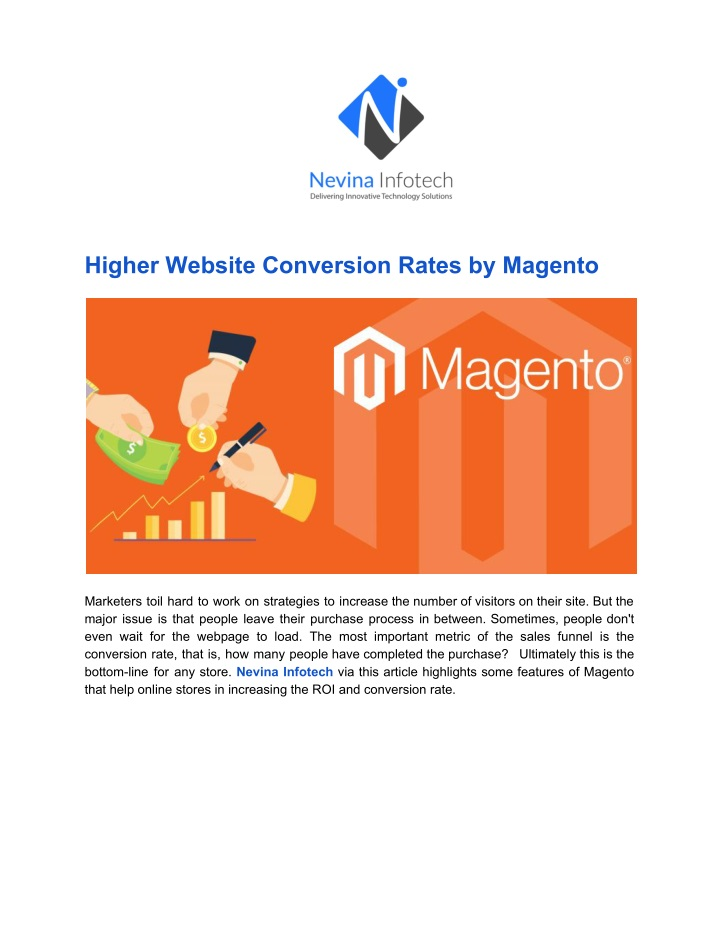 higher website conversion rates by magento n.