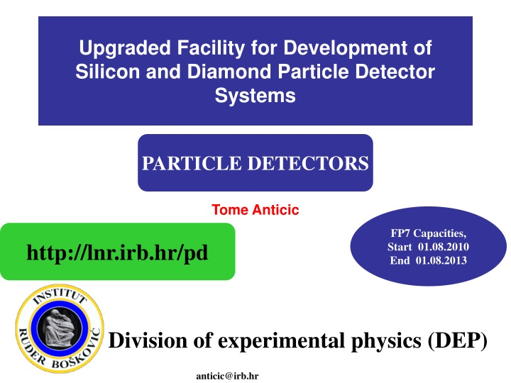 upgraded facility for development of silicon and diamond particle detector systems n.
