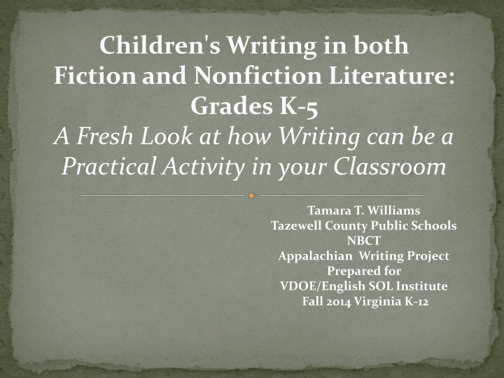 children s writing in both fiction and nonfiction n.