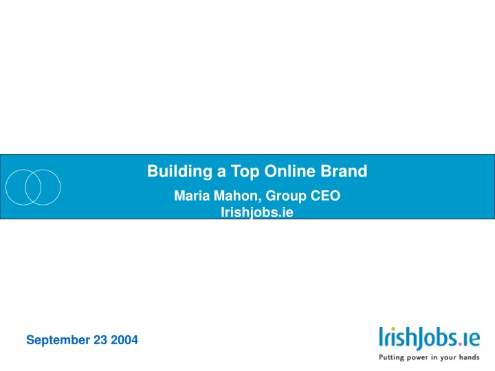 building a top online brand maria mahon group n.