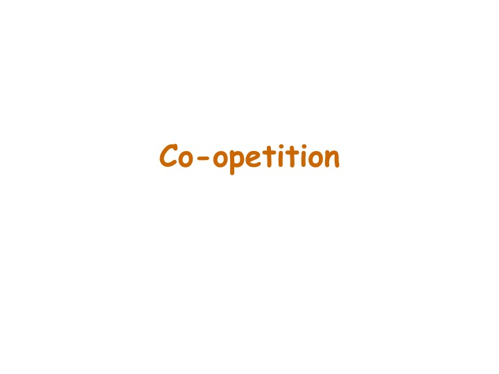 co opetition n.