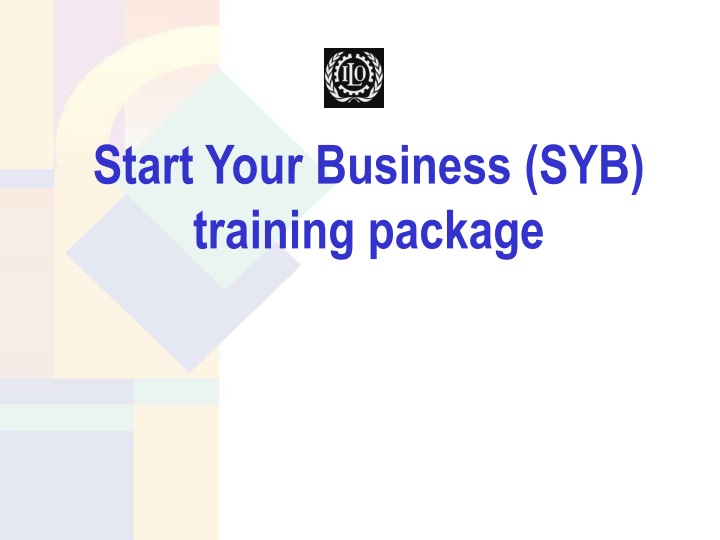 start your business syb training package n.