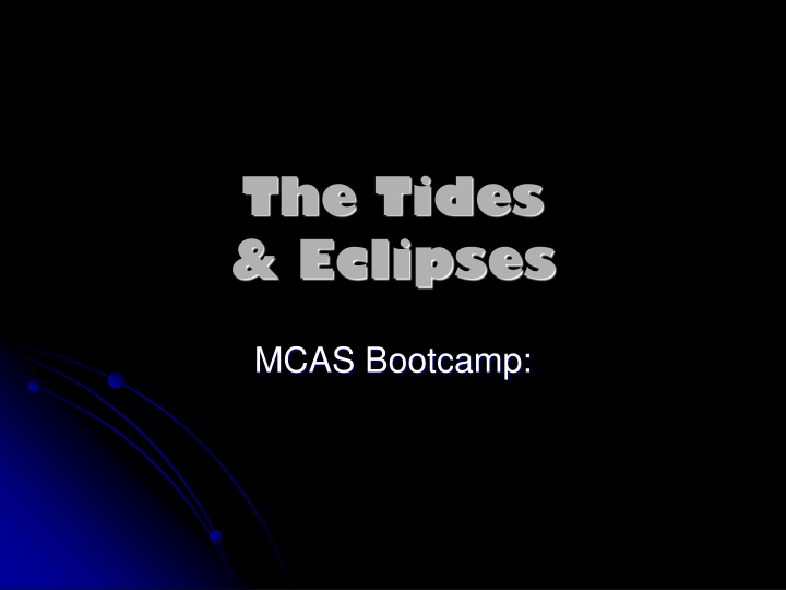 the tides eclipses n.
