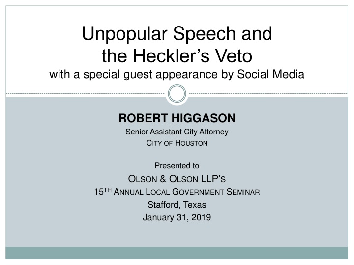 unpopular speech and the heckler s veto with a special guest appearance by social media n.