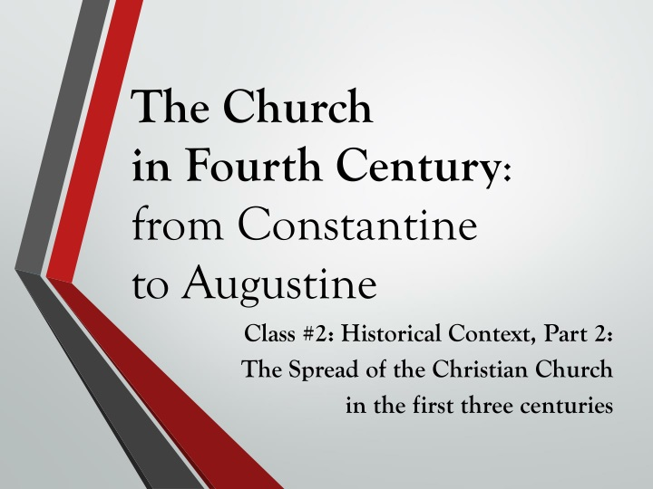 the church in fourth century from constantine to augustine n.
