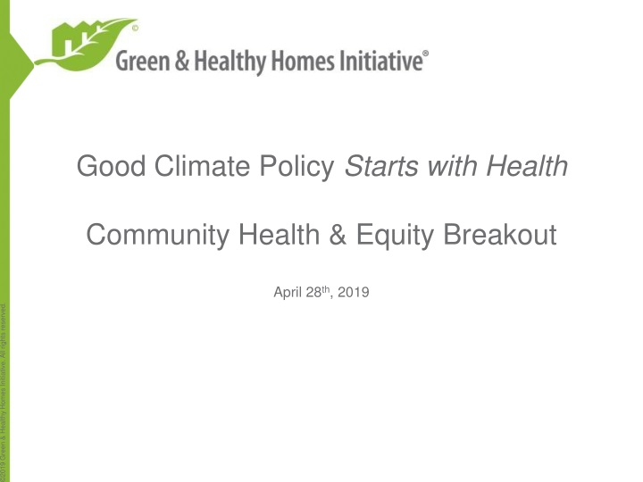good climate policy starts with health community health equity breakout n.