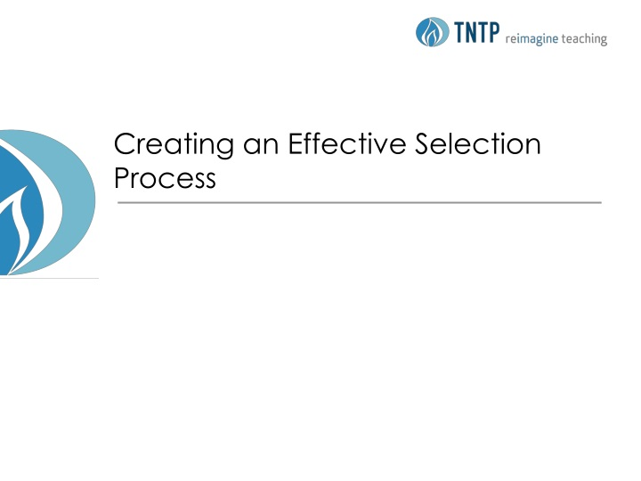 creating an effective selection process n.