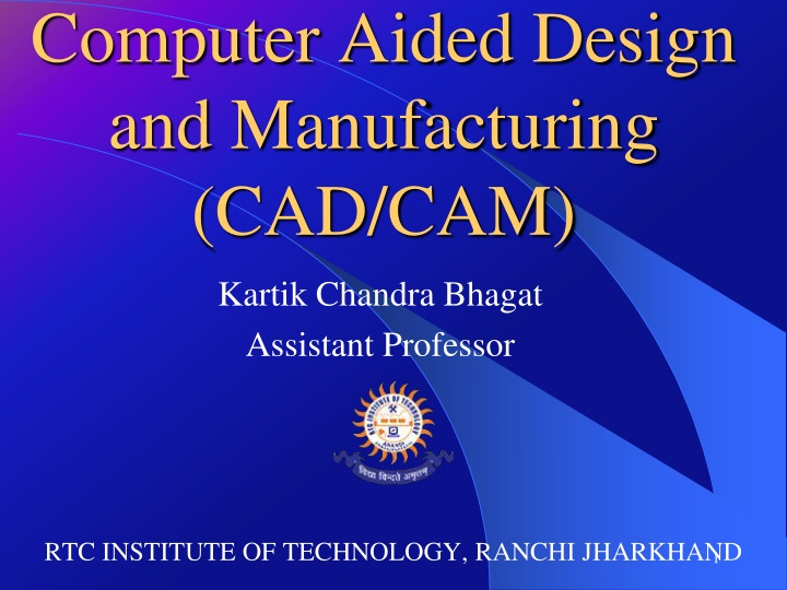 computer aided design and manufacturing cad cam n.