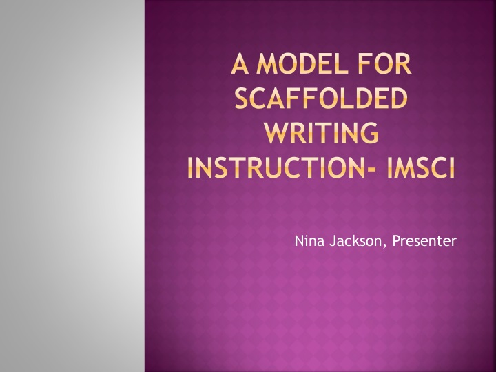 a model for scaffolded writing instruction imsci n.