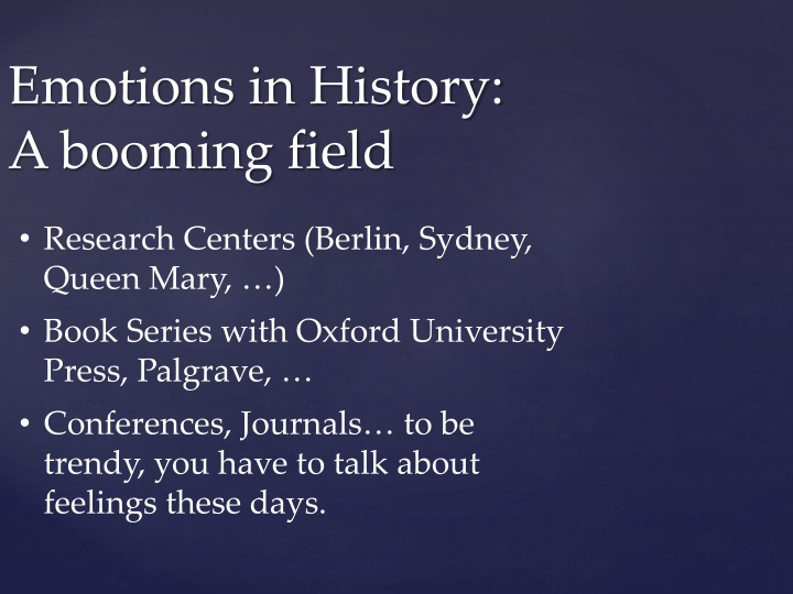 emotions in history a booming field n.