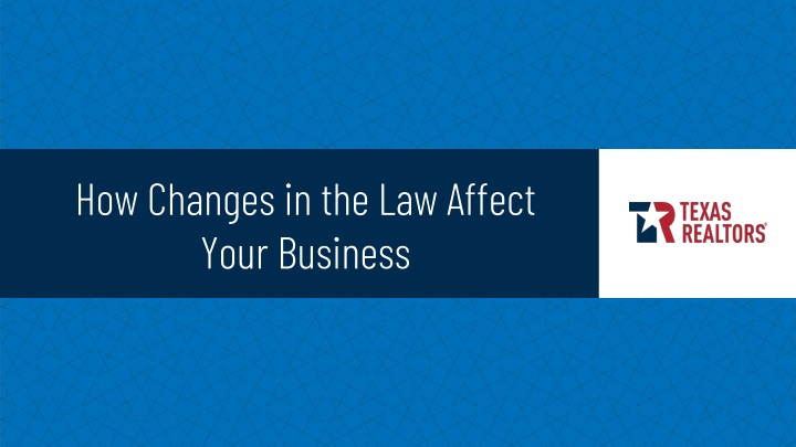 how changes in the law affect your business n.