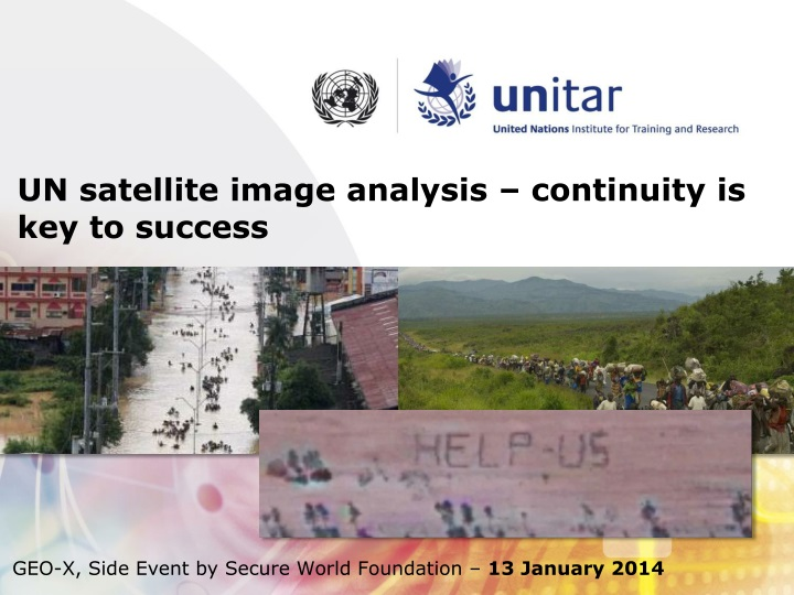 un satellite image analysis continuity n.