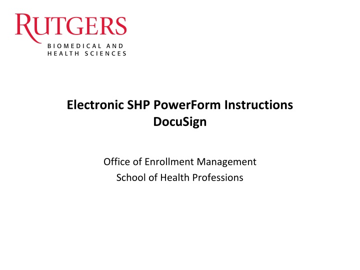electronic shp powerform instructions docusign n.