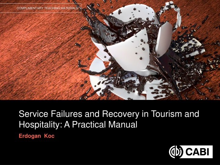 service failures and recovery in tourism and hospitality a practical manual n.