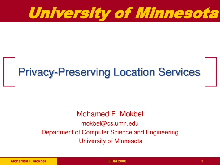 privacy preserving location services n.