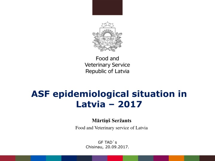 asf epidemiological situation in latvia 201 7 n.