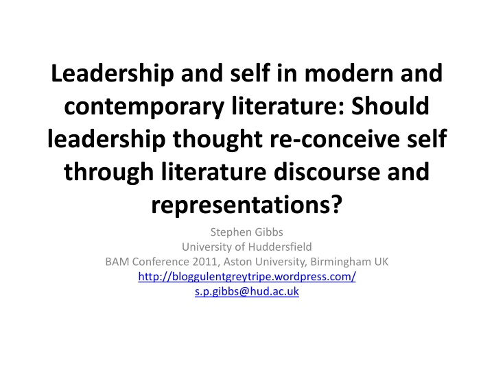 leadership and self in modern and contemporary n.