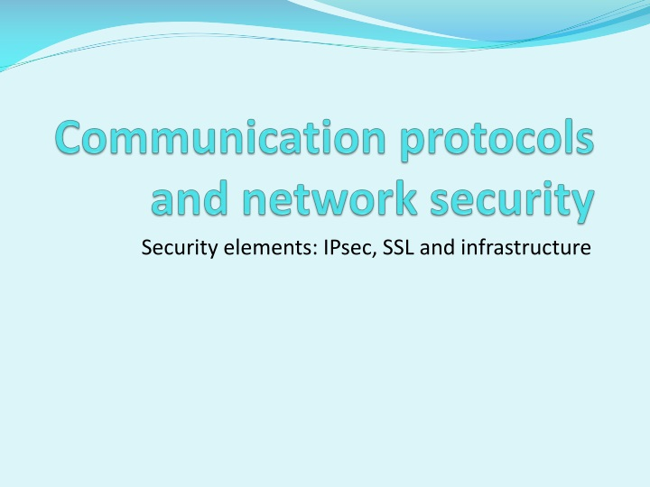 communication protocols and network security n.