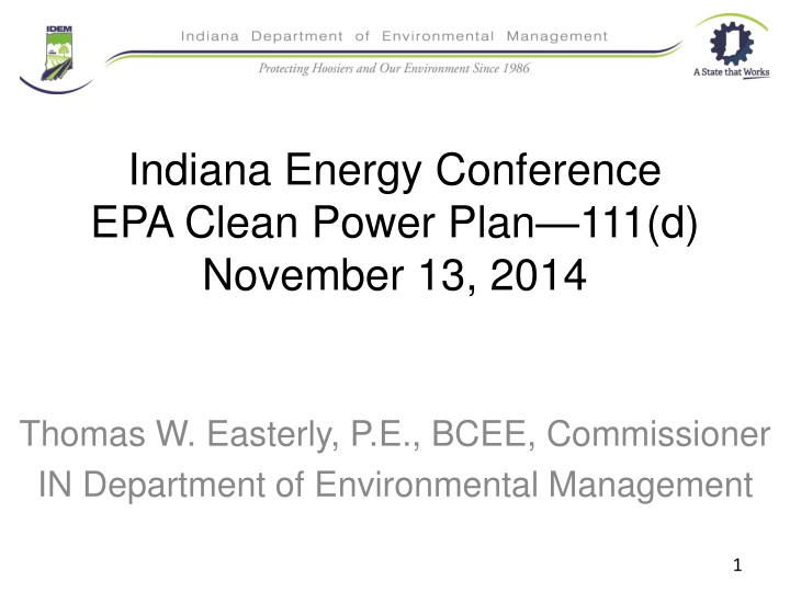 indiana energy conference epa clean power plan 111 d november 13 2014 n.