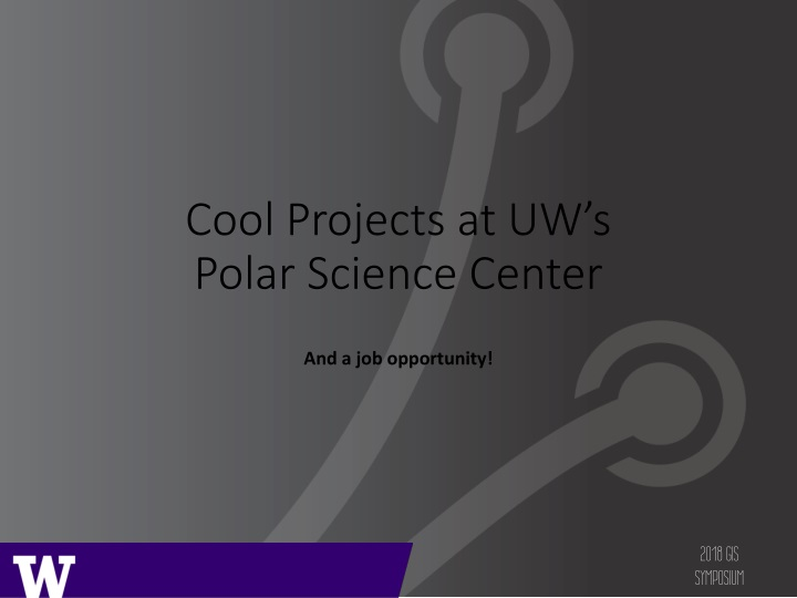 cool projects at uw s polar science center n.