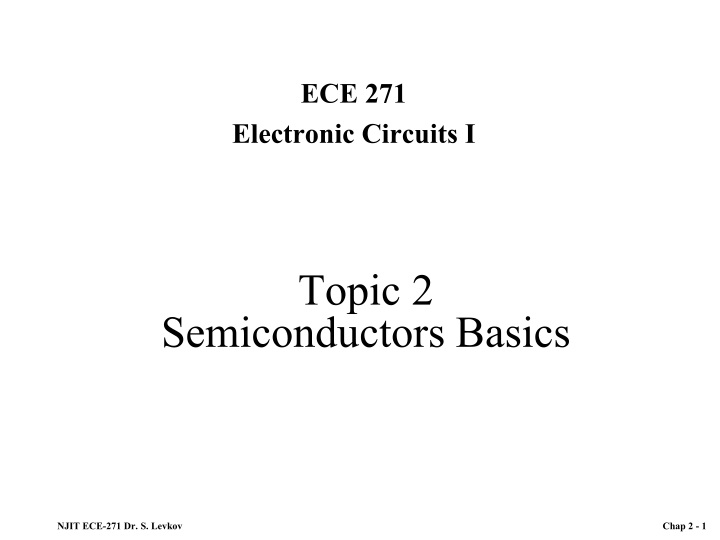 topic 2 semiconductors basics n.