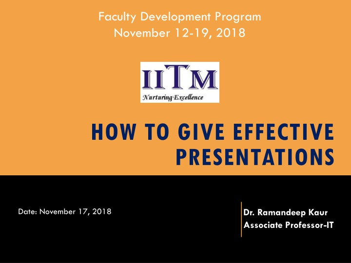 how to give effective presentations n.