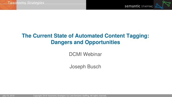 the current state of automated content tagging dangers and opportunities n.