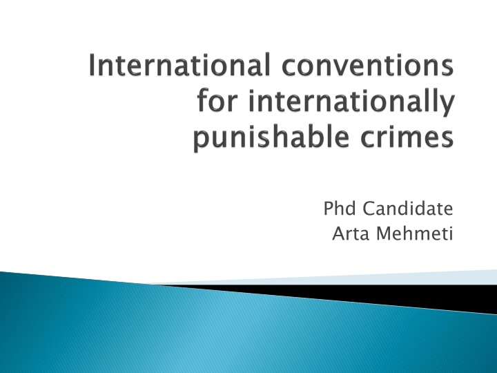 international conventions for internationally punishable crimes n.