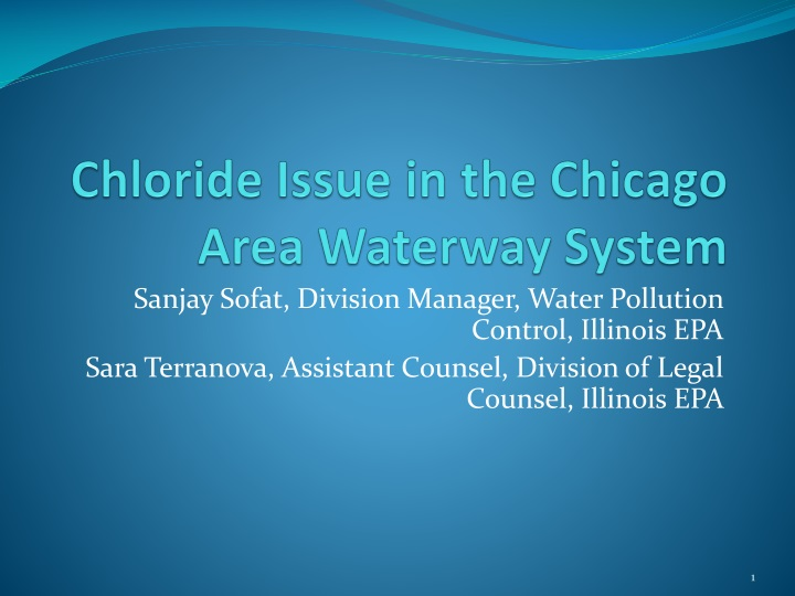 chloride issue in the chicago area waterway system n.