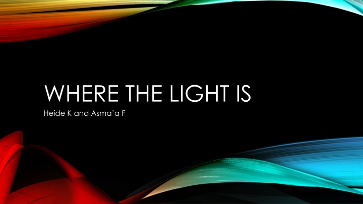 where the light is n.