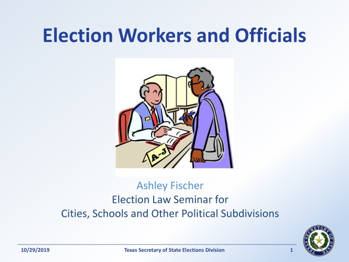 election workers and officials n.