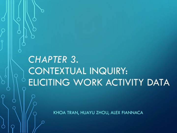 chapter 3 contextual inquiry eliciting work activity data n.