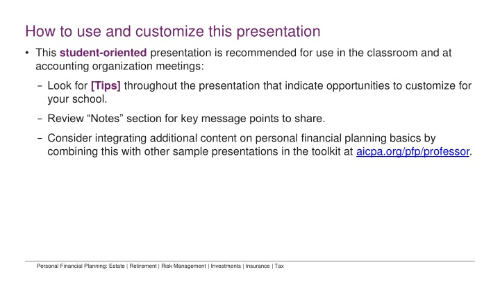 how to use and customize this presentation n.