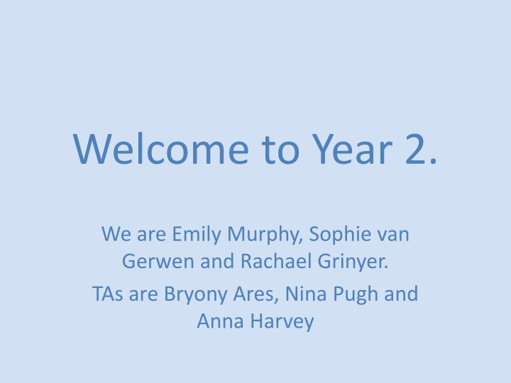 welcome to year 2 n.